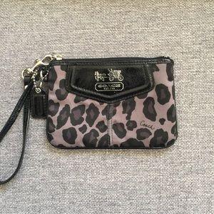 Handbags - COACH animal print wristlet